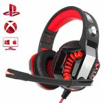Beexcellent Gaming Headset for PS4 Xbox One PC, Noise-Isolation Headphones with Microphone Stereo Encompass Sound for Mac Laptop