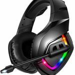 RUNMUS Gaming Headset PS4 Headset with 7.1 Encompass Sound, Xbox One Headset with Noise Canceling Mic & RGB Light, Tackle minded w/ PS4, Xbox One(Adapter Now not Incorporated),