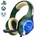 PS4 Gaming Headset with mic, Beexcellent Xbox One Headset with Stereo Sound Noise Isolation Memory Foam LED Gentle for PC Laptop laptop Capsule