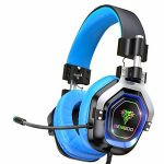 BENGOO Gaming Headset for PS4, Xbox One, PC,【4 Speaker Drivers】 Over Ear Headphones with forty five° Adjustable Earmuff, 720° Noise Canceling Microphone, Comfy Memory Earmuffs for Xbox 360 Accessory (Blue)