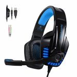 PS4 Gaming Headset with Noicse Cancelling Mic Over Ear Headphones LED Light Stereo Encompass Sound, Lightweight Consolation for Laptop Mac Nintendo Switch Video games –