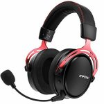 Wi-fi Gaming Headset for PS4, PC, with Double Chamber Drivers, Xbox One Headset with Removable Noise Cancelling Microphone, Ultra Low-Latency Gaming Headphones (Included 3.5.mm Cable)