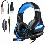 BlueFire Upgraded Skilled PS4 Gaming Headset 3.5mm Wired Bass Stereo Noise Isolation Gaming Headphone with Mic and LED Lights for Playstation4, Xbox one, Computer pc,