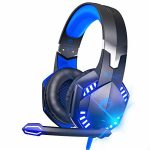 VersionTECH. G2000 Stereo Gaming Headset for Xbox One PS4 PC, Encompass Sound Over-Ear Headphones with Noise Cancelling Mic, LED Lights, Quantity Withhold a watch on for Pc computer,