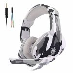 Gaming Headset for PS4, Xbox One, PC, Laptop, Mac, Nintendo Swap, PHOINIKAS 3.5MM PS4 Headset with Mic, Over Ear Headset, Noise-Cancelling Headset, Bass Encompass, LED Gentle,