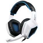 Gaming Headset for PS4 Xbox One Controller,Sades SA920 3.5mm Wired Over Ear Stereo Gaming Headphones with Microphone for PC iOS Computer Gamers Natty Phones Mobiles Tablet(Dismal White)
