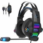 Xbox One Stereo Gaming Headset, YOTMS Headset for PS4, Xbox One, PC, Notebook, Nintendo Swap 3.5mm Interface with Noise Canceling Microphone, LED Lighting fixtures, Bass Surround –