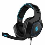 Sliq Gaming Scorpio Stereo Sound 50mm Gaming Headset/Headphone with Microphone/Mic for PC, PS4, Xbox One – in-line Audio Controls – LED – 3.5mm Enter