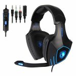 SADES Gaming Headset for Unique Xbox One, PS4, PC, Noise Reduction Recreation Earphone, Bass Surround Over-Ear Headphones 3.5MM Jack Headset for Xbox one Mac, Pc,