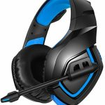 RUNMUS Gaming Headset PS4 Headset with 7.1 Surround Sound Stereo, Xbox One Headset with Noise Canceling Mic, Acceptable with PC, PS4, Xbox One Controller(Adapter Needed),