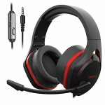 Jeecoo V22 Gaming Headset for PS4 PC Xbox One, Deep Bass Sound Over-Ear Headphones with Noise Cancelling Microphone, Enormous Soft Earcups, Properly matched with Laptops Nintendo Switch Mobile