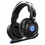HP Wired Stereo Gaming Headset with mic, for PS4, Xbox One, Nintendo Switch, PC, Mac, Computer computer, Over Ear Headphones PS4 Headset Xbox One Headset and LED Gentle