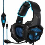 Sades SA807 Stereo Gaming Headsets Over Ear Heaphones with Microphone Noise Maintaining aside for Recent Xbox one PS4 PC Cell(Sad & Blue)