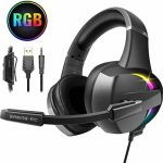 Beexcellent Gaming Headset,PS4 Xbox One Headset with Stereo Bass Surround Sound, Gaming Headphones with Noise Canceling Mic for PS4 Xbox One PC Notebook computer Mac –