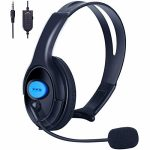 PS4 Unilateral Headset, Joso 3.5mm Wired Traffic Chat Online Gaming One Ear Headphone with Microphone for Ps4, PS4 Pro, PS4 Slim, Nintendo Swap, Pc pc,