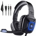 Gaming Headset for Xbox One & PS4, AIMASON Noise Cancelling Over Ear Headphone w/Crystal Stereo Bass Surround Sound & Snug Memory Earmuffs, Headset for Video games/Nintendo Change/PC/Mac/Laptop