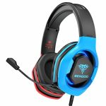 BENGOO G9500 Gaming Headset Headphones for PS4, Xbox One, PC Controller, Over Ear Headphones with 720°Noise Cancelling Mic, Bicolor LED Lights, Adjustable Tender Memory Earmuffs for Nintendo Gamecube