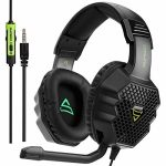 [Xbox One, PS4 Gaming Headset ]SUPSOO G811 Gaming Headset for Contemporary Xbox One, PS4 Controller,3.5mm Wired Over-ear Noise Environment apart Microphone Volume Modify for Mac/ PC/Notebook computer / PS4/Xbox One(Black&Inexperienced)