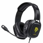 Gaming Headset Xbox One Headset, PS4 Headset, PC Headset with Noise Canceling Mic & LED Light, Gaming Headphones for PC, PS4, Xbox One Controller(Adapter No longer Incorporated),