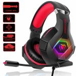 SVYHUOK PS4 Gaming Headset with Mic, Stereo 2019 Newest Lightweight Over-Ear Headphone for Video games, Stereo Encompass with Noise Cancelling 3.5mm Jack for PC Notebook computer