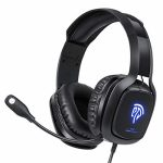 EasySMX Gaming Headset for Xbox One S, X, PS4, PC with Soft Breathing Earmuffs, Audio Stereo Sound, Adjustable Mic, Delighted Restful & LED Lights, Xbox Headset for Laptop,