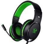 Karvipark H-10 Gaming Headset for Xbox One/PS4/PC/Nintendo Swap|Noise Cancelling,Bass Surround Sound,Over Ear,3.5mm Stereo Wired Headphones with Mic for Obvious Chat