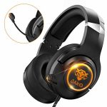 Headset for PS4 Xbox One Playstation4 and Nintendo Switch, JAKO Noise Cancelling Over Ear Headphones with Mic, LED Light Headset with Soft Earmuffs for PC Notebook MP4 Mobile Phone and Ipad