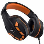 PS4 Headset, Gaming Headset for Xbox One Nintendo Swap Ps4 with Mic, Kikc Stereo Noise Cancelling Gaming Headphones with Cushy Earmuffs for Cell Phone Ipad MP4 PC and Notebook