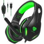 Stynice Gaming Headset for PC, PS4, Ps5, Xbox One, Laptop, Crystal Sure Sound Laptop Gamer Headset with Noise Canceling Mic and LED Light – Light-weight Contented Gamer Headphone (Inexperienced)
