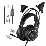 SOMIC Stereo Gaming Headset with Mic for PS4, PS5, Xbox One, PC, Mobile Cellphone, 3.5MM Sound Removable Cat Ear Headphones Light-weight Self-Adjusting Over Ear Place of business Headphones G951S Sad