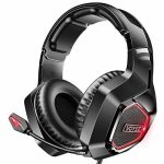 VOYEE Wired Gaming Headset Exchange for PS4/Xbox One/PC Headset, Noise Canceling Over Ear Headphones with Microphone/Surround Sound/LED Gentle Smartly matched with PS4,PS5,Xbox One,Switch,PS3 Controller