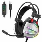 PS4 Gaming Headset, Taotique Merely 7.1 Surround Sound Headphones with Noise Cancelling Mic, Ergonomic Relaxed Earmuffs, RGB Lights and in-line Quantity Controller USB Computer Headsets for PC Notebook computer Mac
