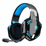 PHOINIKAS G2000 Gaming Headset, Wired Over Ear Headphones for Xbox One, PS4, PC, Bluetooth Wi-fi Headset for Cellphone, Bluetooth As a lot as 12h, One-Click 7.1 Stereo Sound,