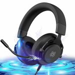 Gaming Headset Acceptable with PS4/Xbox One/PC/Switch,Headsets for PS4 with Mic Constructed-in Audio Controls,Headsets for Xbox 7.1 Encompass Sound Over-Ear Gaming Headphones with Microphone
