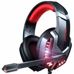 Gaming Headset, Gaming Headphones with Microphone Noise Cancelling Over Ear Headphones, Stereo Surround Sound, LED Light, Soft Earmuffs Wired Headphones for PS4,PS5,Nintendo Change,Xbox One,PC,Laptop