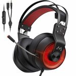 Mpow Gaming Headset Xbox One Headset with 7.1 Surround Sound, PC PS4 Headset with Noise Canceling Mic & LED Gentle, Applicable with PC, PS4, PS5, Change,