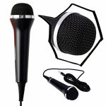 Gam3Gear Universal 10ft USB Wired Microphone Controller for PS4 Pro Slim PS3 Xbox One S Xbox 360 Wii PC RockBand Guitar Hero Karaoke Singing Game