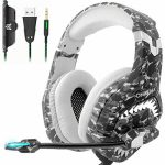 Gaming Headset, PS4 Games Headset Xbox One Headset with Noise Cancelling Mic, Stereo Encompass Sound & LED Gentle, Cushy Memory Earmuffs, Gaming Headphones PC Headset…