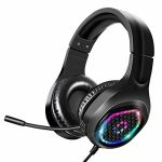 SNEDIY G1 Stereo Gaming Headset, Correct for PS4 PC Xbox One PS5 PS4 Controller, Headset with Noise Discount Microphone and LED Gentle, Relaxed Storage Earmuffs…