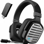 XIBERIA G02 Wi-fi Gaming Headset with Detachable Unidirectional Microphone Admire minded for PC,PS4,PS5,2.4GHz Ultra-Low Latency,Noise Cancelling MIC,Reminiscence Foam Earmuffs(Wired Mode for Xbox One)
