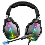 Beexcellent Gaming Headset for PS4 PS5 Xbox One, with 7.1 Encompass Sound & Noise-Cancelling Mic, RGB Light Modes