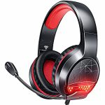 BENGOO G9900 Gaming Headset Headphones for PS4 PS5 Xbox One PC Controller, Noise Setting apart Over Ear Headphones with Mic, Red LED Gentle, Bass Surround…