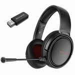 BINNUNE 2.4G Wi-fi Gaming Headset with Microphone for PS4 PS5 Playstation, PC Headphone with Mic, Wired Mode for Xbox One, Xbox Series X Video games