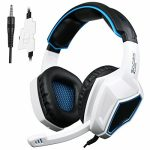 Xbox One PS4 Headset,Sades SA920 3.5mm Wired Over Ear Stereo Gaming Headphones with Microphone for PC iOS Pc Avid gamers Dapper Phones Mobiles(White Dim)