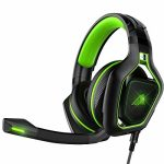 AYU Gaming Headset for PC PS4 Xbox ONE, Over Ear Gaming Headphones with LED Mild, Noise Canceling mic, Bass Encompass Stereo Sound, Comfy Earmuffs Successfully…