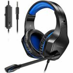 Gaming Headset with Microphone, BEAVIIOO PS4 Headset for Xbox One, PS5, Computer, Nintendo Switch, Xbox Series S, with Noise Cancelling Mic, Encompass Sound Stereo, Over…