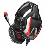 ONIKUMA Gaming Headset, Noise Canceling Gaming Headphone with Microphone and Surround Sound, LED Gentle, Good with PS4,PS5,PC,Mac, Laptops,Xbox One(Adapter No longer Included)