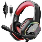 EKSA Gaming Headset with 7.1 Encompass Sound Stereo, PS4 USB Headphones with Noise Canceling Mic & RGB Gentle, Worship minded with PC, PS4 Console, Computer…