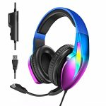 Nesan Fire Gaming Headset with Microphone, Gorgeous Aurora RGB, Gaming Headset PC PS4 PS5 Xbox One Xbox Series X & S Laptop laptop Mac Nintendo,…