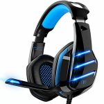 Gaming Headset for PS5 PS4 Xbox One PC Swap Laptop private computer with 7.1 Encompass Sound, Over-Ear with Noise Canceling Mic
